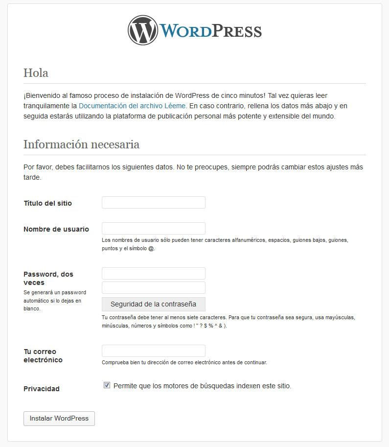 paso4 wordpress