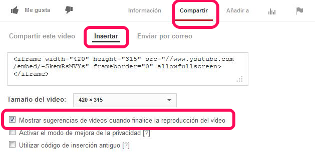 videos relacionados youtube